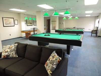 Our pool tables in the lounge area